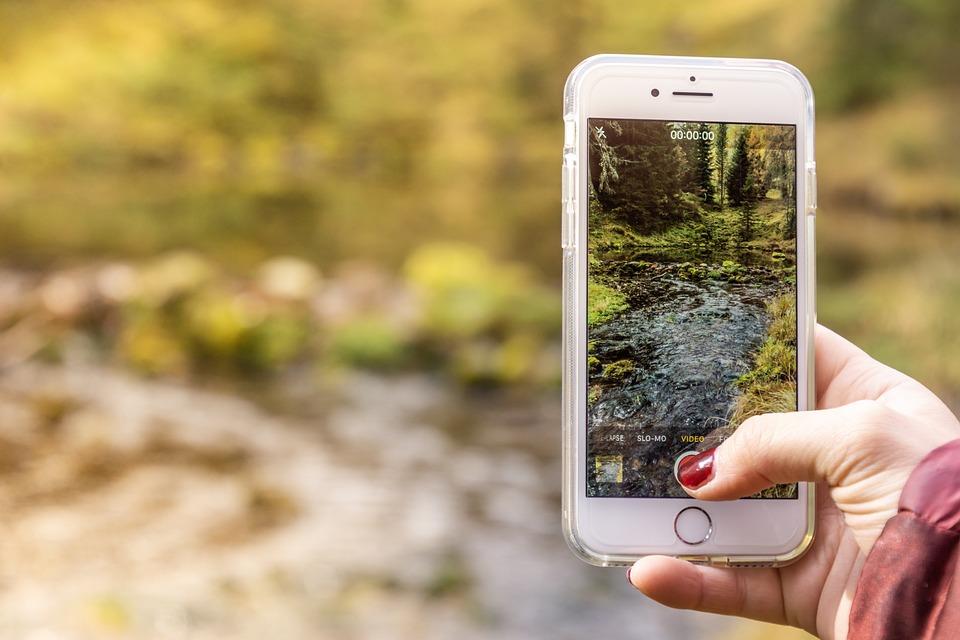 focení s mobilem