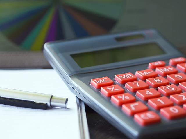 kalkulačka a vzorník