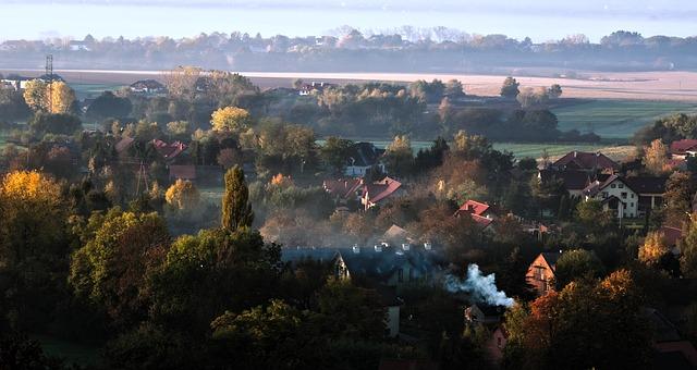 smog nad vesnicí