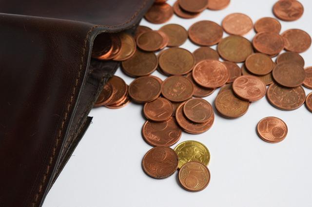 centy u peněženky